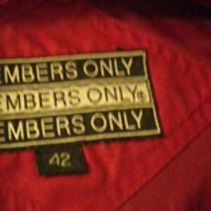 1980s Vintage Members Only Jacke size 42 like new
